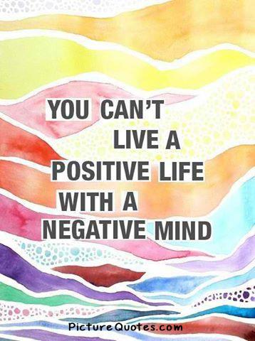 A negative mind will never give you a positive life Picture Quote #2