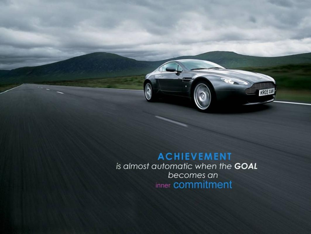 Achievement is almost automatic when the goal becomes an inner commitment Picture Quote #1