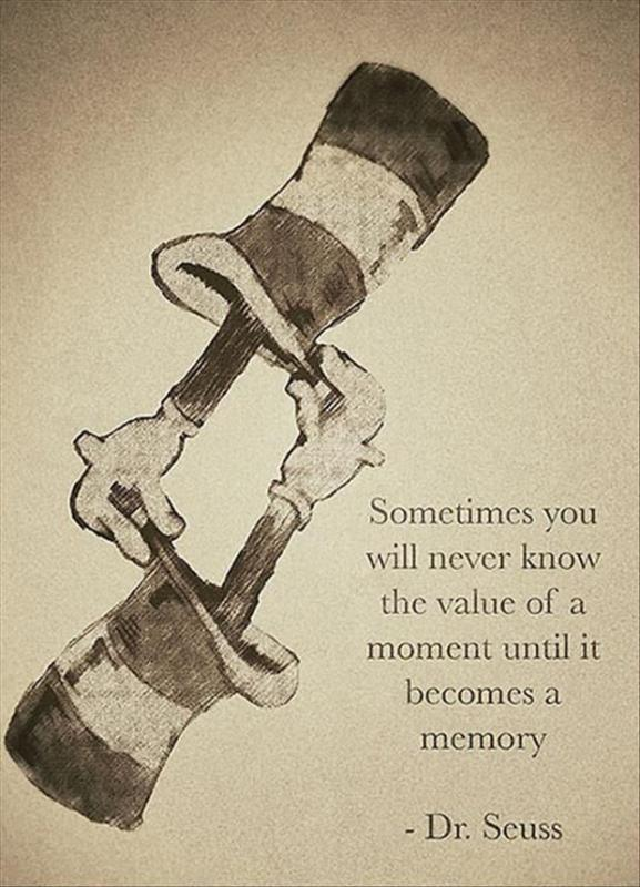 Sometimes you will never know the value of a moment until it becomes a memory Picture Quote #1