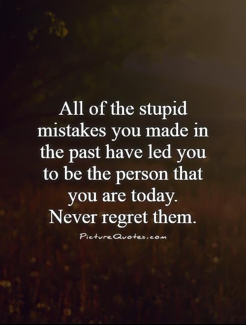 Quotes on regretting the past