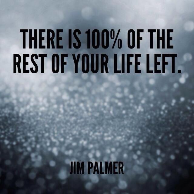 There is 100 percent of the rest of your life left Picture Quote #1