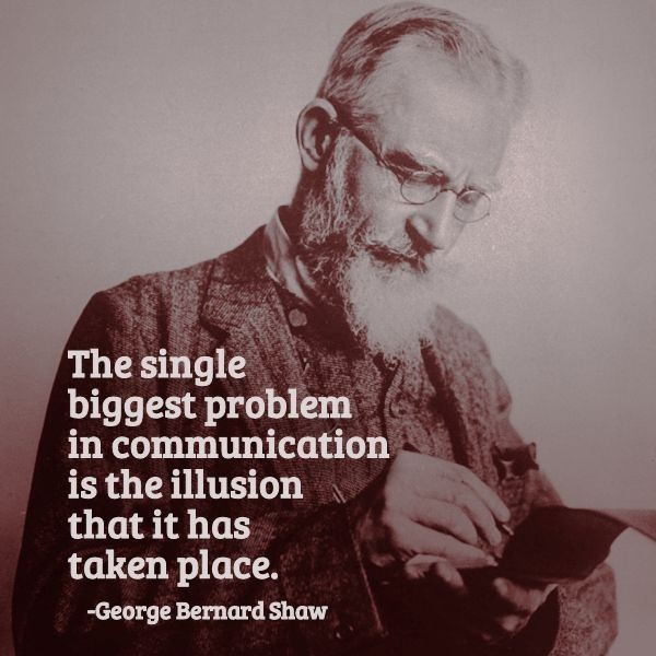 The single biggest problem in communication is the illusion that it has taken place Picture Quote #3