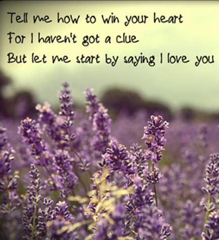 Tell me how to win your heart, for I haven't got a clue, but let me start by saying, I love you Picture Quote #1