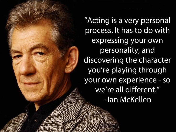 Acting is a very personal process. It has to do with expressing your own personality, and discovering the character you're playing through your own experience - so we're all different Picture Quote #1