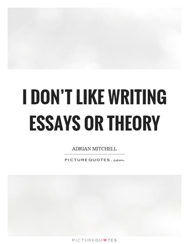 Why do people like writing essays?