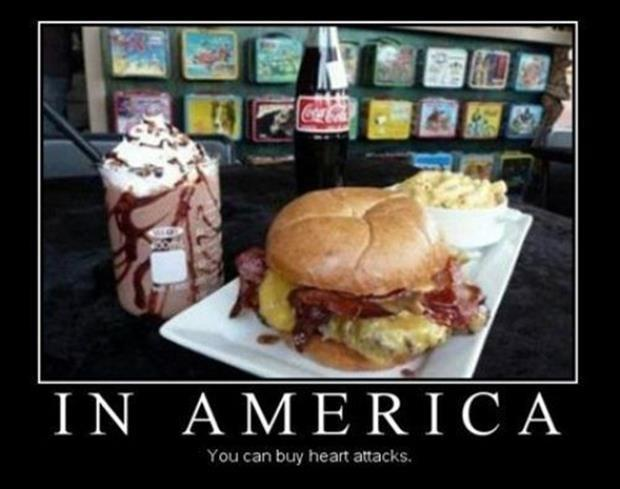 In America you can buy heart attacks Picture Quote #1
