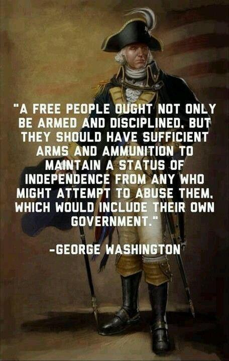 A free people ought not only to be armed and disciplined, but they should have sufficient arms and ammunition to maintain a status of independence from any who might attempt to abuse them, which would include their own government Picture Quote #1