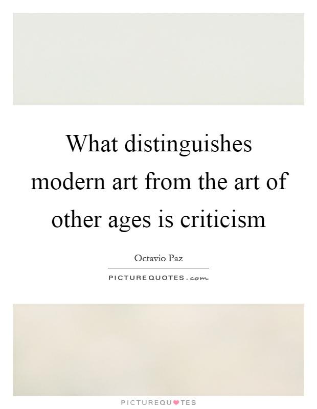 Modern Arts Criticism