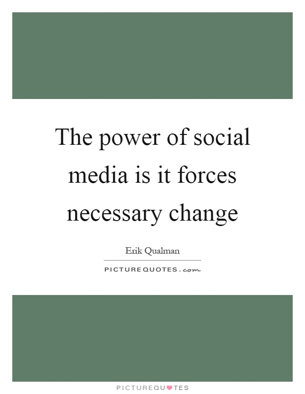 social power of the news media The impact of social media media essay the quote knowledge is power applies greatly in addressed on the effect of social media is the usage of the news as.