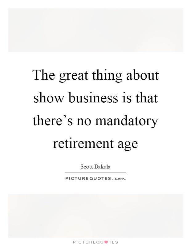 Essay on mandatory retirement age