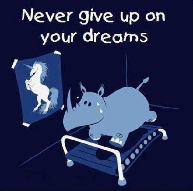 Never give up on your dreams Picture Quote #1