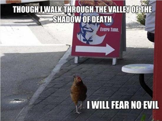 Though I walk through the valley of the shadow of death,  I will fear no evil Picture Quote #2