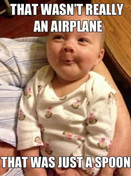That wasn't really an airplane, that was a spoon Picture Quote #1