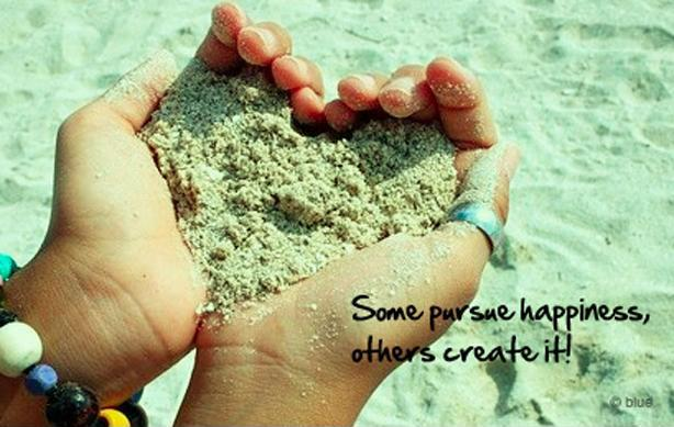 Some pursue happiness, others create it! Picture Quote #1