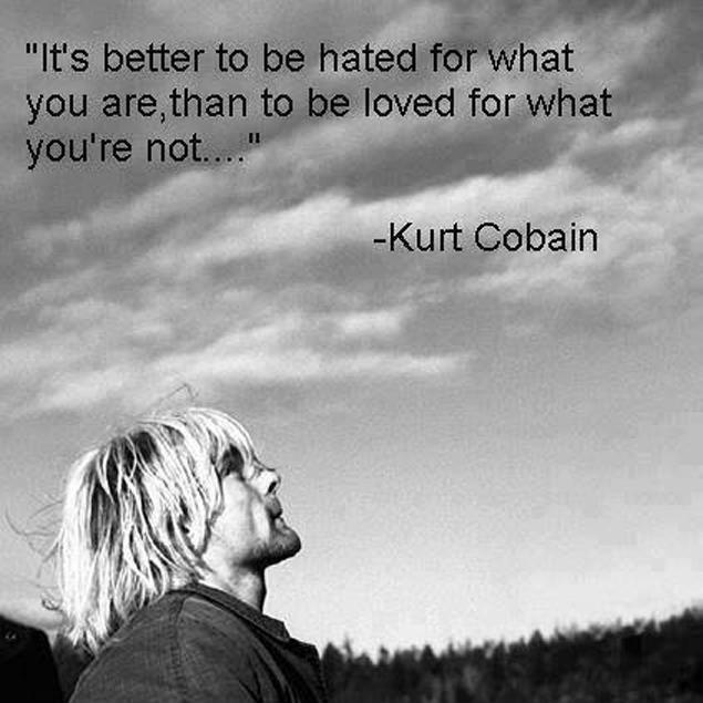It's better to be hated for what you are, than to be loved for what you're not Picture Quote #1