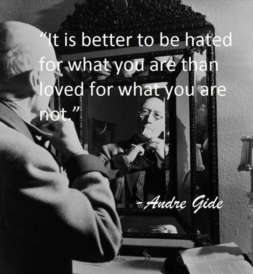 It's better to be hated for what you are, than to be loved for what you're not Picture Quote #2
