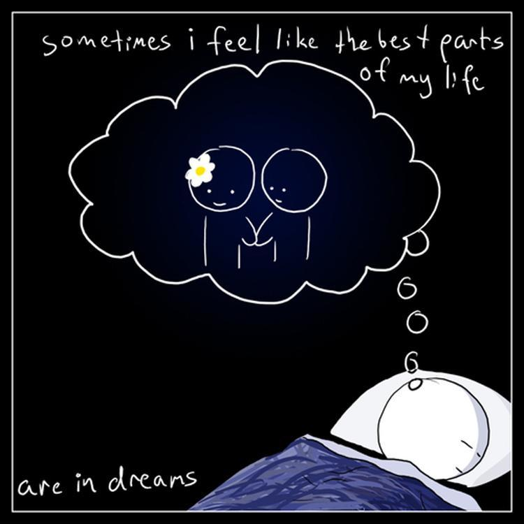 Sometimes I feel like the best parts of my life are in dreams Picture Quote #1