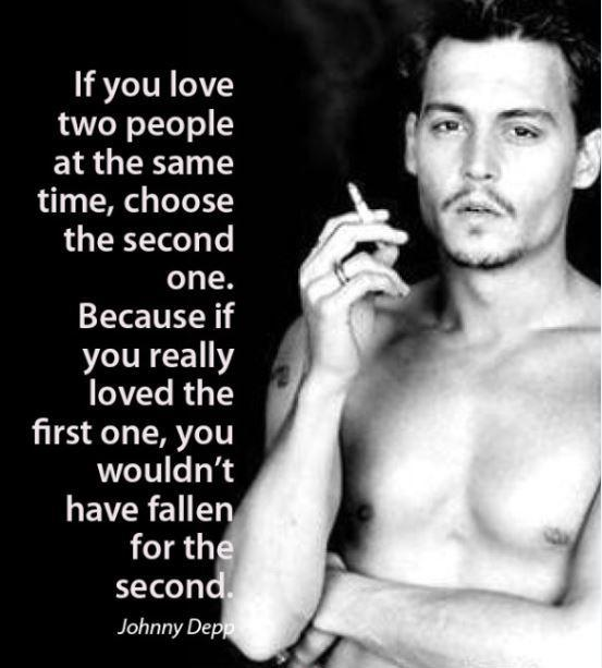 If you love two people at the same time, choose the second one, because if you really loved the first one, you wouldn't have fallen for the second Picture Quote #1
