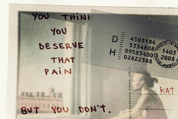 You think you deserve that pain, but you don't Picture Quote #1