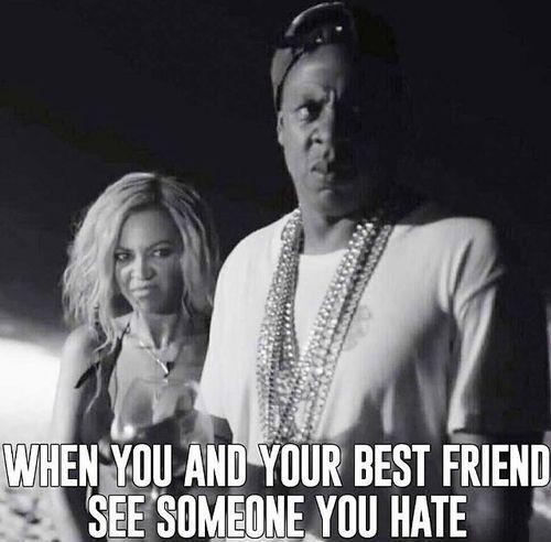 when you and your best friend diss someone you hate