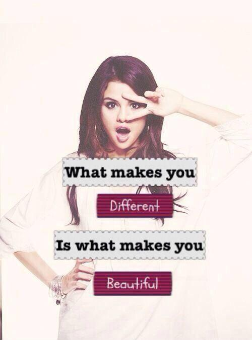 What makes you different makes you beautiful picture quotes for What make a beautiful