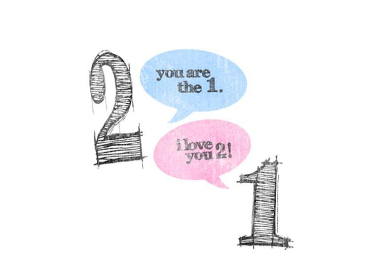 You are the 1. I love you 2 Picture Quote #1