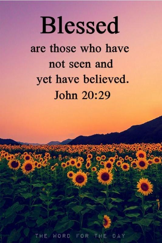 Blessed are those who have not seen and yet have believed Picture Quote #1