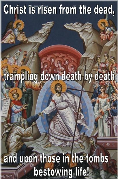 Christ is risen from the dead, trampling down death by death and upon those in the tombs bestowing life Picture Quote #1