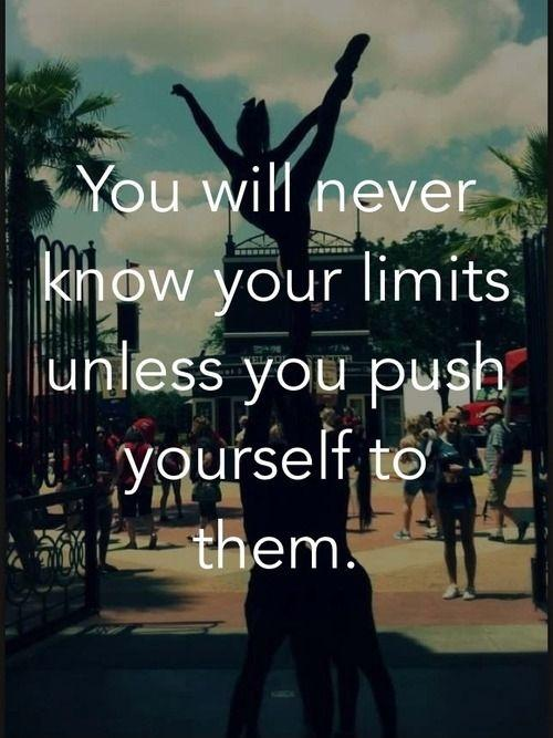 You will never know your limits unless you push yourself to them Picture Quote #1