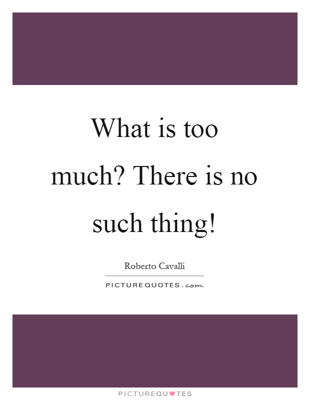 What is too much? There is no such thing! Picture Quote #1