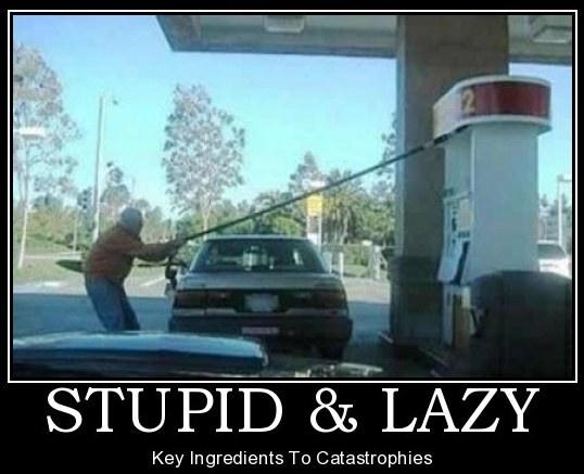 Stupid and lazy. Key ingredients to catastrophes Picture Quote #1