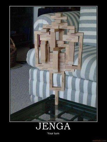 Jenga. Your turn Picture Quote #1