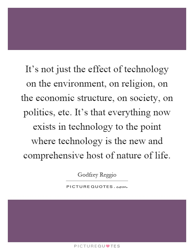 technology its effects on society essay
