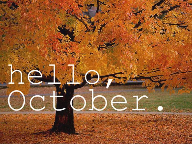 Hello, October Picture Quote #1