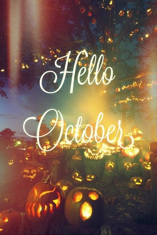 Hello, October Picture Quote #2
