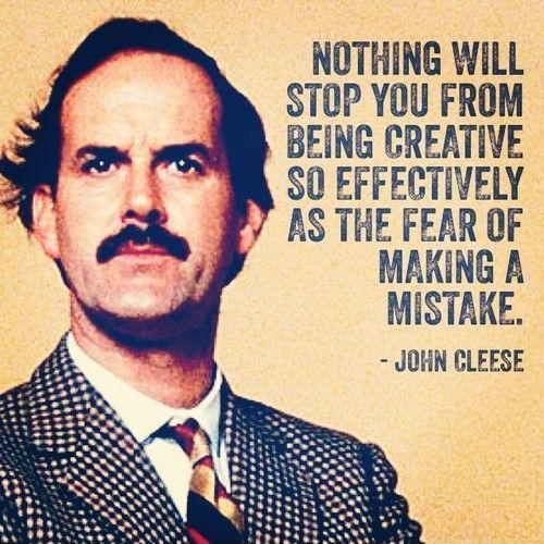 Nothing will stop you from being creative so effectively as the fear of making a mistake Picture Quote #1