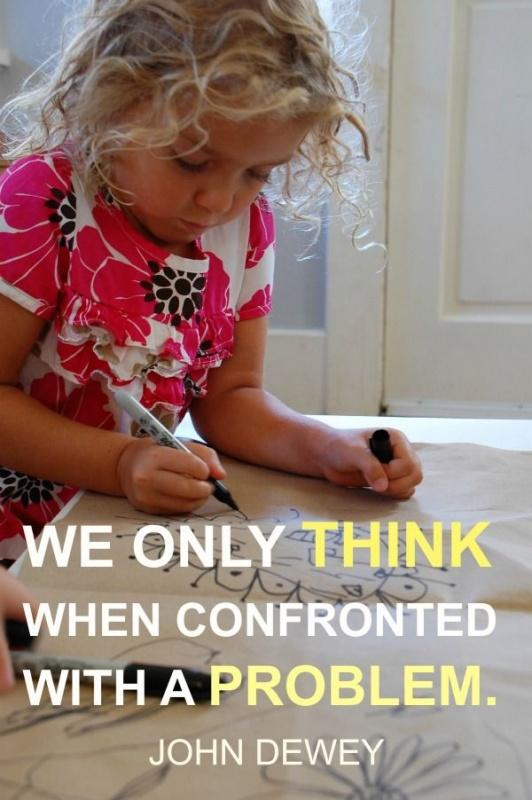 We only think when we are confronted with problems Picture Quote #2
