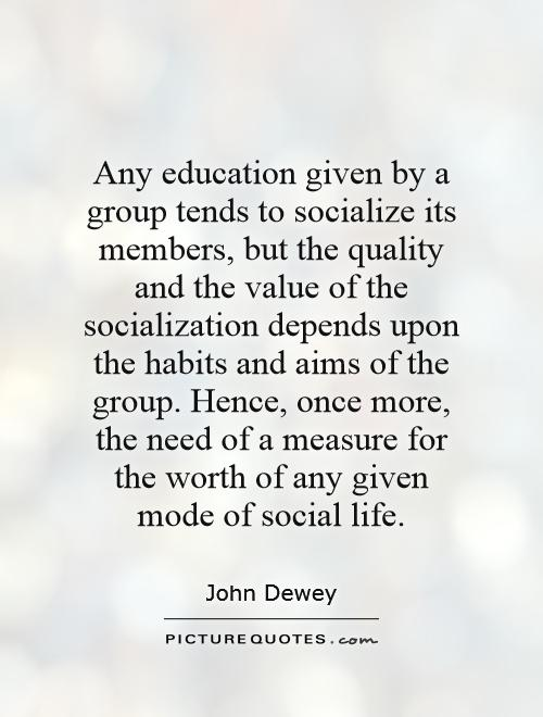 socialization as an aim of education An essay or paper on social aims of education «fr» »the purpose of this research is to examine issues surrounding the social aims of education and the appropriate emphasis of educational praxis, as features of a philosophy of education.