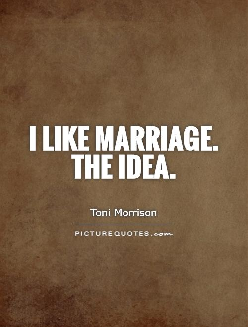 I like marriage. The idea Picture Quote #1