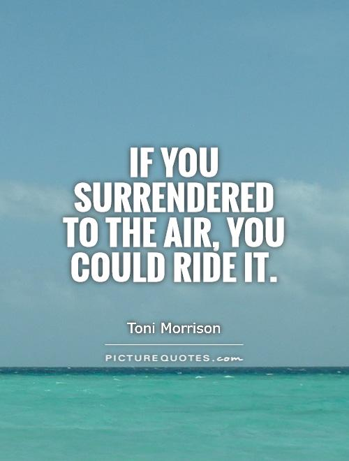 If you surrendered to the air, you could ride it Picture Quote #1