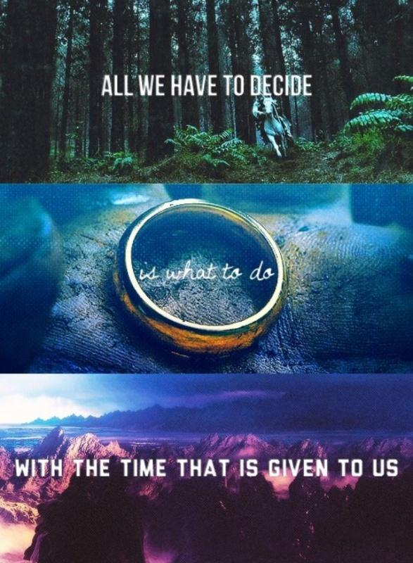 All we have to decide is what to do with the time that is given us Picture Quote #2