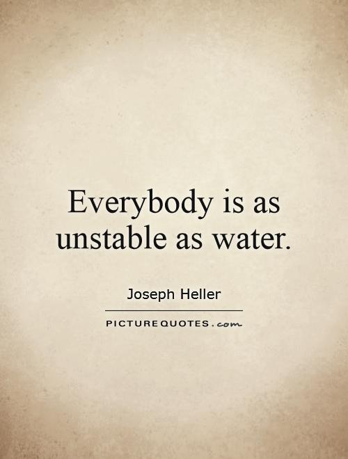 Everybody is as unstable as water Picture Quote #1