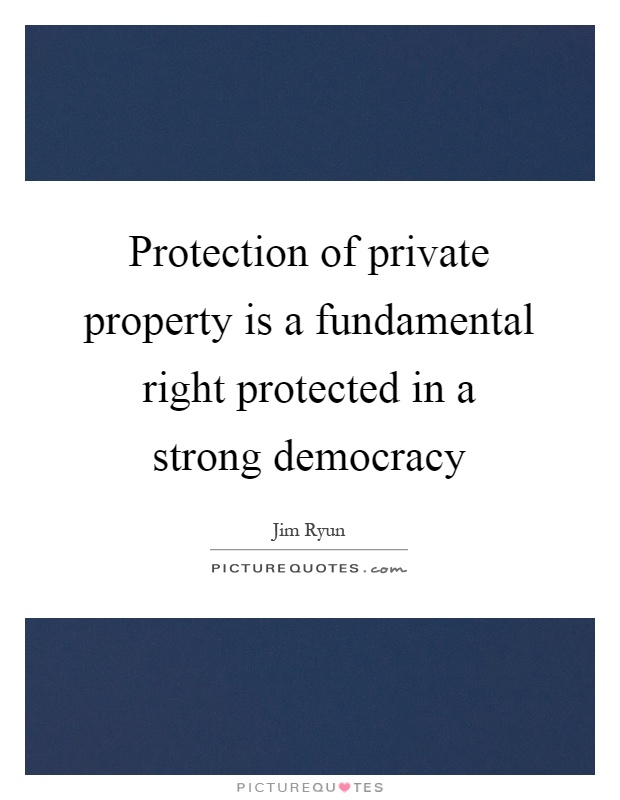 Protection of property rights under the