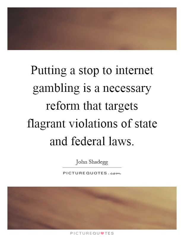 Gambling federal law