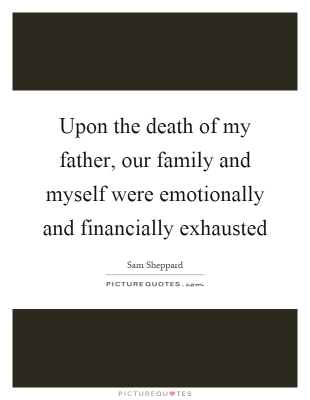 The death of my father essay