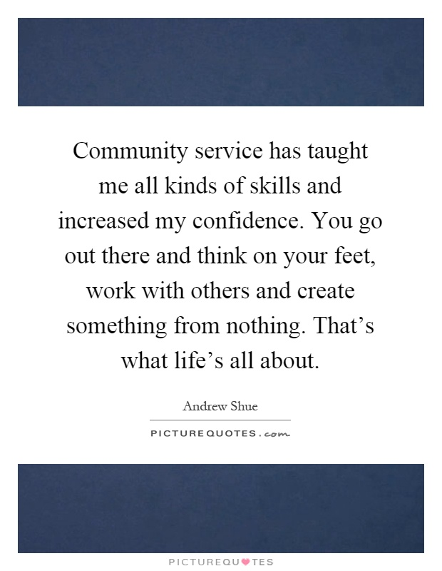 What is the value & importance of community service in our society??