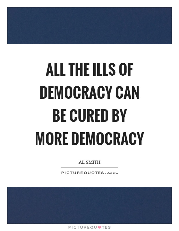 Cure ills democracy more democracy