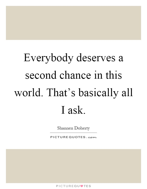 everybody deserves a second chance essay