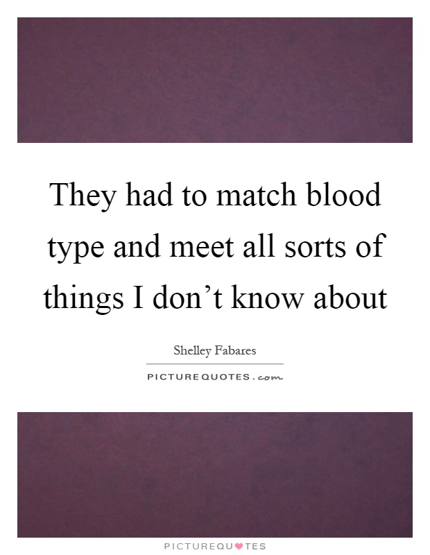 Blood Type Dating - Who do you match with