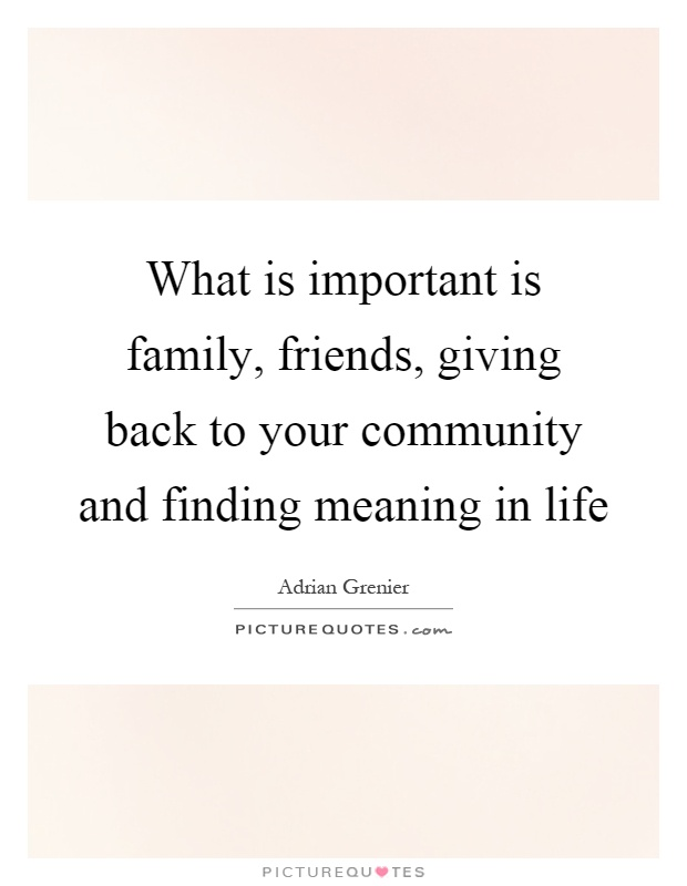 Quotes About Whats Important In Life Endearing What Important In Life Quotes & Sayings  What Important In Life